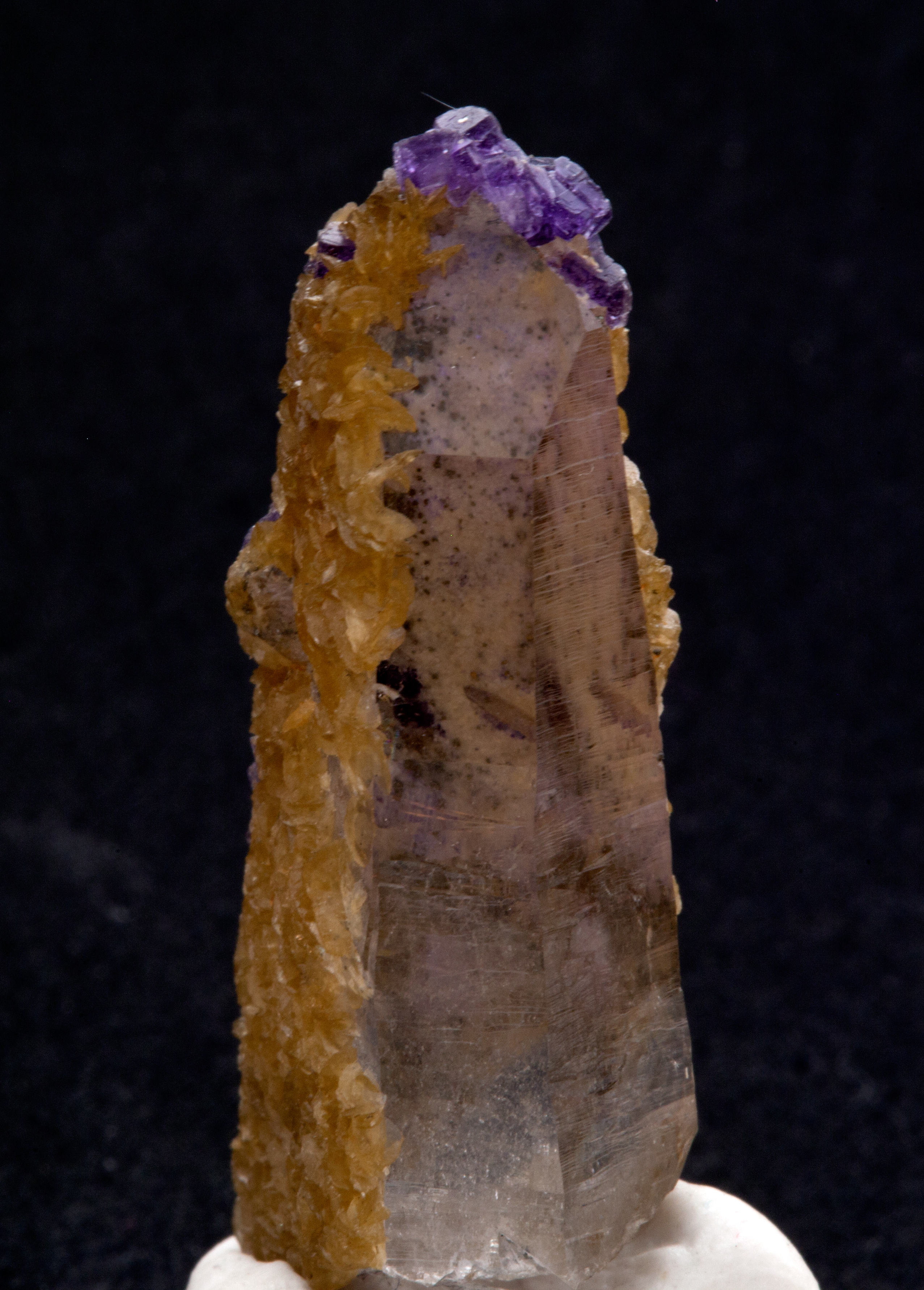 Panasqueira Quartz with Siderite and Fluorite